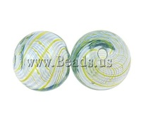 Free shipping!!!Blown Lampwork Beads,Jewelry 2013 Fashion, Round, handmade, hollow, 12mm, Hole:Approx 1.5-2mm, 50PCs/Bag