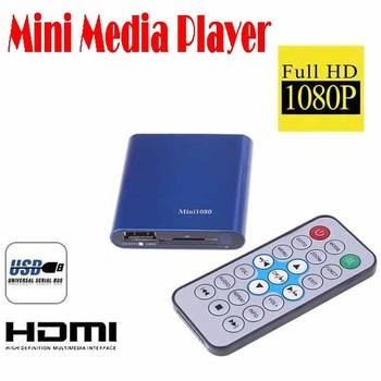 50% shipping fee 5 PC  Mini Media Player 1080P HDMI USB/SD HD Media Player RMVB/RM/MKV