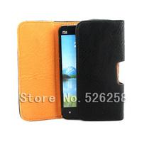 Luxury Black New Leather Lichee Pattern Case Belt Clip Pouch for xiaomi M2 2 mi2 Free shipping 02