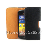 Luxury Black New Leather Lichee Pattern Case Belt Clip Pouch for Samsung I779 Free shipping 02