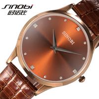 Brand Sinobi men's watch artificial leather belt watch the trend of fashion male quartz watches free shipping