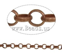 Free shipping!!!Iron Rolo Chain,Exquisite, antique copper color plated, nickel, lead & cadmium free, 5.50x1.50mm, Length:25 m