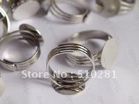 14mm pad ring base ring blank ring setting 100piece free shipping