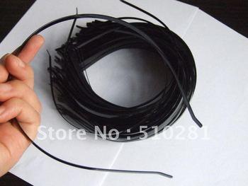 Free ship! Bulk 100piece 3mm Black hair findings accessories metal headband head band