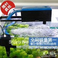 Aquarium turtle tank fish tank filter three-in fish tank built-in external submersible pump oxygen pump12W