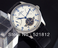 43mm Parnis White Dial Power Reserve pointer ST2505 automatic mens watch 235
