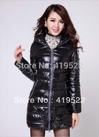 Free Shipping 2013 New Women's Winter Coat Wenai The Long Section Thick Coat Shiny Padded Jacket