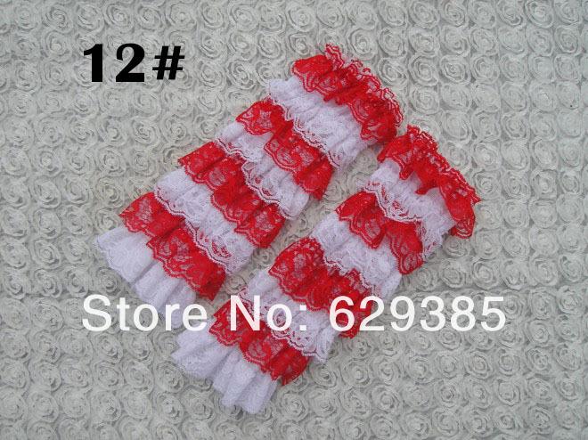 100% hq верхний младенцы потрясающие прорезиненная тесьма кружево до щиколотки носки наколенник многоцветный до щиколотки носки 12 цвет 10 pair/lot