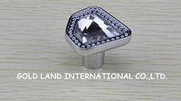 D34xH31mm Free shipping luxurious K9 crystal glass kitchen knob/crystal drawer knob