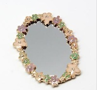DIY alloy accessories - mobile phone beauty lace small mirror