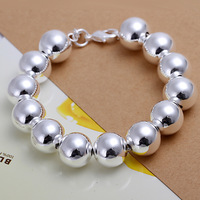 Free shipping wholesale for women/men's 925 silver bracelet 925 silver fashion jewelry charm bracelet 14mm ball Bracelet SB080