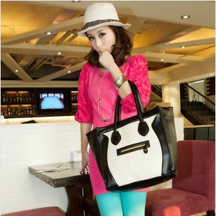 2013 free shipping Europe and America fashion phantom handbag Large smile bag leather bag women's handbag