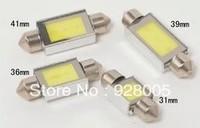 Free Shipping NEW high power COB LED Reading Light 31mm/36mm/39mm/41mm COB LED Car Auto Interior Tail-box License Plate Bulbs