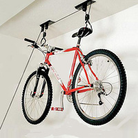 2 Sets of Ceiling Hanging Moute Bike Lift - Garage Overhead Storage Pulley Rack