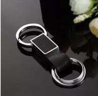 Car quality buckle quality simple genuine leather car keychain male keychain