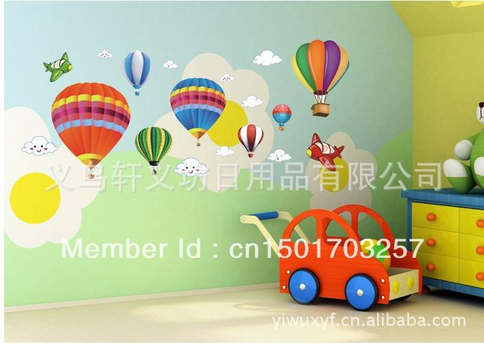 Wall Decoration Kindergarten : Cartoon wall post balloon decoration first choice