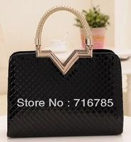 Korean 2014 new simple bridal bag woven bag handbag large bag fashion casual shoulder messenger bag,free shipping,XB060