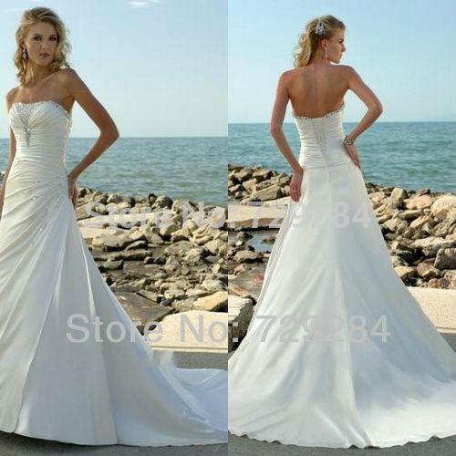 Wedding Dresses For A Beach Ceremony : Wedding dresses beach ceremony gowns bridal dress in