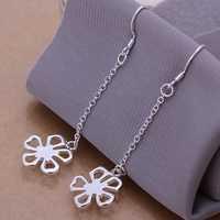 Free shipping 925 sterling silver jewelry earring fine five flower drop earring wholesale and retail SMTE089