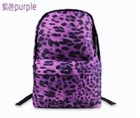 Hot-selling 2013 HARAJUKU bag backpack fashion leopard print denim cotton backpack women's backpack