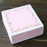 11.5*11.5*5cm Pink small mooncake box Bronzier mini cake box biscuit box