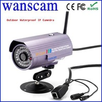 Wanscam Orginal New Outdoor Wireless Night Visibility with P2P(plug and play) Gun Bullet Ip Camera On Internet Free Shipping