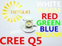 FREE SHIPPING 10PCS ORIGINAL CREE Xlamp XRE XR-E Q5 1W 3W 4W  High Power LED Emitter with16mm Round Heatsink For Flashlight DIY
