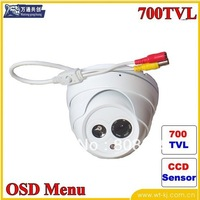 !free shipping! Sony CCD Effio-E 700TVL 6mm lens  IR Indoor Security CCTV Camera