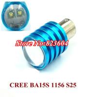 High Power 2 x 1156 BA15S P21W Cree Q5 LED 12W White Reverse Turn Tail Brake Light Bulb