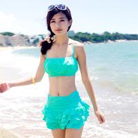 skirt split bikini women swiming clothes sets female swiming SF607