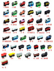 hot sell on sale Thomas Children small train wooden toys mixed order 10 pieces/lot(China (Mainland))