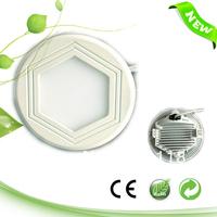 12W Small Round ultra-thin hexagona LED panel ,1080 LM 5630/5730/3014  155mm, 110V/220V