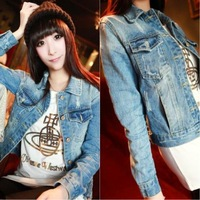 motorcycle jacket denim jacket plus size women clothing woman clothes big size female coat cardigan fall 2013 sale the winter