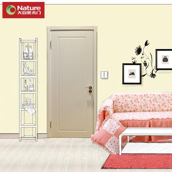 Large natural wooden door interior door LLADRO wood compound door lock hinge