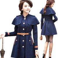 2013 woman coat winter outerwear women wool coat fashion turn-down collar cloak wool coat woolen outerwear autumn and winter