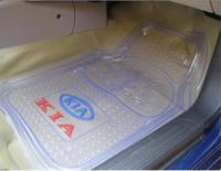 Pvc transparent plastic waterproof KIA emblem floor mat slip-resistant KIA k3 freddy