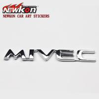 MITSUBISHI emblem mivec car label refires sign of lancer