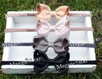"2.5"" Baby girls Classic basic hair bows hair band headband with bows 500pcs/lot"