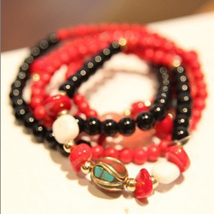 Exquisite accessories girls popular gift personalized red coral bracelet