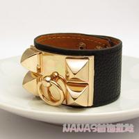 H bracelet gold plated bracelets 2012 hot sell leather bangle free shipping for women girl
