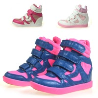 free shipping Bubble medium-large female child high casual shoes three-color female child sport shoes  girl child boots