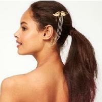Fashion metal fashion fork no pierced ear hook earrings hair clip accessories 26g