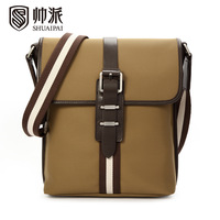 Male shoulder bag casual bag man commercial cloth messenger bag fashion backpack