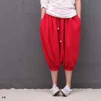 2013 summer - red loose harem pants