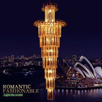 DHL Free shipping 55W Golden yellow World Class Modern Crystal Chandelier