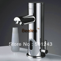 Free Shipping Modern Design Hot Cold Mixer Automatic Sensor Mono Basin Mixer Tap QH0135A