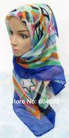 FJ0132 new fashion square muslim hijab scarf women shawls headgear,free shipping,assorted colors