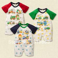 wholesale kids wear short sleeve toddle romper lion baby romper infant romper,18sets/lot(1T-3T)3 designs free shipping