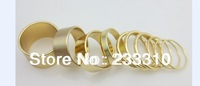 free shipping!40Pcs(4sets) X gold silver tone punk wide thin band rings Knuckle Midi Mid rings Set