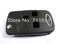 3 button remote key blank case only with Toy43 blade for Toyota